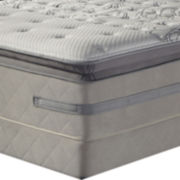 Sealy® Posturepedic® Enthusiasm Euro Pillow-Top Hybrid Mattress plus Box Spring