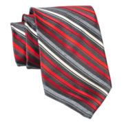 Stafford® Flannel Stripe Silk Tie
