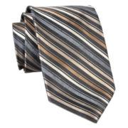 Stafford® Flannel Stripe Silk Tie