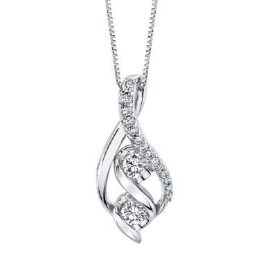 jcpenney.com | 3/8 CT. T.W. White Diamond Round 14K Gold Pendant