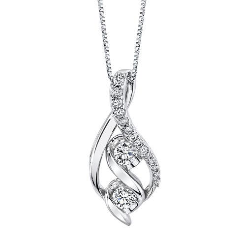 3/8 CT. T.W. White Diamond Round 14K Gold Pendant