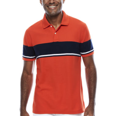 jcpenney.com | St. John`s Bay Short Sleeve Stripe Pique Polo Shirt