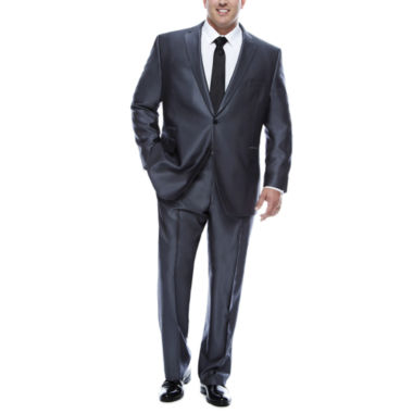 jcpenney.com | J.Ferrar Gray Luster Herringbone-Big and Tall Suit Separate