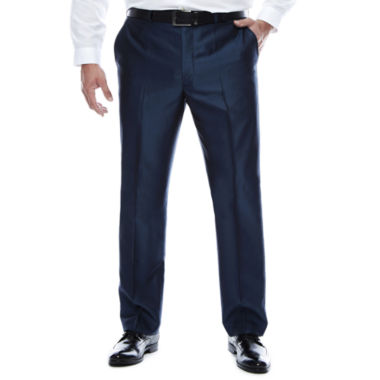 jcpenney.com | J.Ferrar Blue Luster Suit Pants-Big and Tall Fit