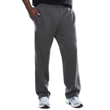 jcpenney.com | The Foundry Big & Tall Supply Co.™ Loose-Fit Open-Bottom Fleece Pants