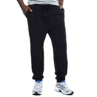 jcpenney.com | The Foundry Big & Tall Supply Co.™ Tapered-Fit Flat-Front Fleece Jogger Pants