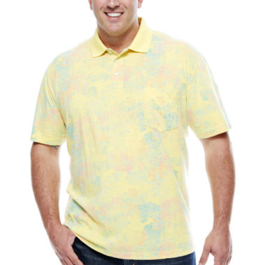 jcpenney.com | The Foundry Big & Tall Supply Co. Short Sleeve Pattern Jersey Polo Shirt Big and Tall