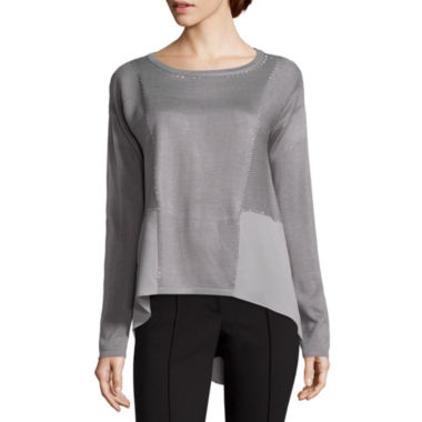 jcpenney.com | Nicole By Nicole Miller Stud Sweater