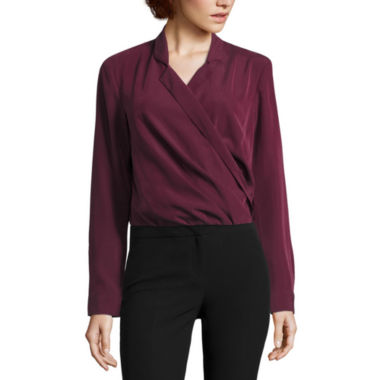 jcpenney.com | Worthington Long Sleeve Y Neck Woven Blouse