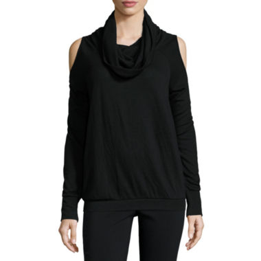 jcpenney.com | i jeans by Buffalo Long Sleeve Cowl Neck Cold Shoulder Sweater