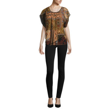 jcpenney.com | Alyx Scoop Neck Blouse or Slim-Leg Millennium Pants