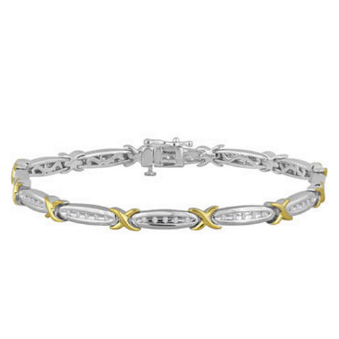1 CT. T.W. Diamond 10K White Gold Bracelet