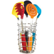 Fiesta® 6-pc. Kitchen Utensil Set with Crock
