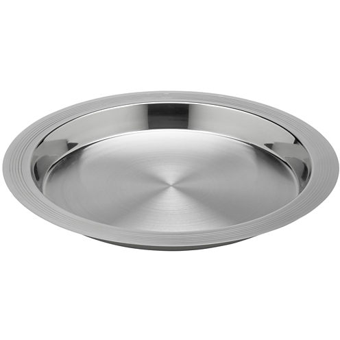 "Round 14"" Stainless Steel Serving Tray"