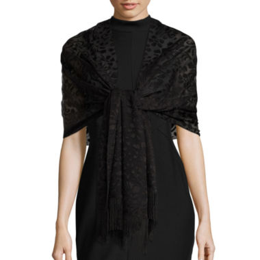 jcpenney.com | Big Buddha Burnout W/Fringe Evening Wrap