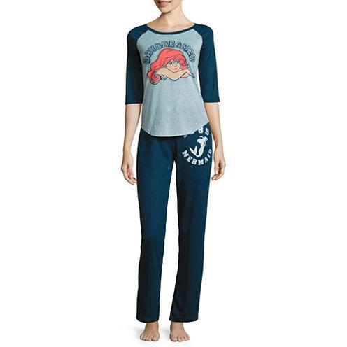 Disney French Terry Pant Pajama Set-Juniors