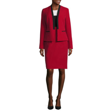 jcpenney.com | Black Label by Evan-Picone Long Sleeve Contrast Collar Jacket with Sleeveless Colorblock Sheath