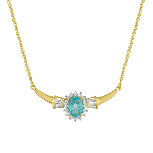 Blue Topaz Statement Necklace
