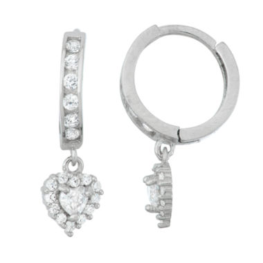 jcpenney.com | White Cubic Zirconia Hoop Earrings