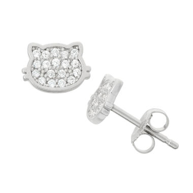 jcpenney.com | Round White Cubic Zirconia Stud Earrings