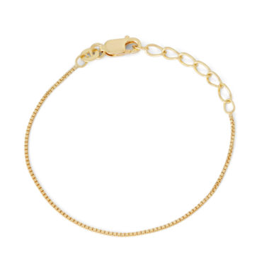 jcpenney.com | Children's 14K Yellow Gold Over Silver Box Chain Bracelet