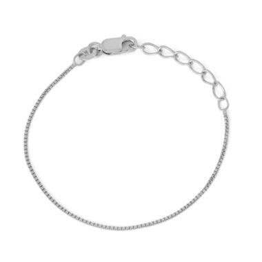 jcpenney.com | Children's Sterling Silver 6 Inch Box Chain Bracelet
