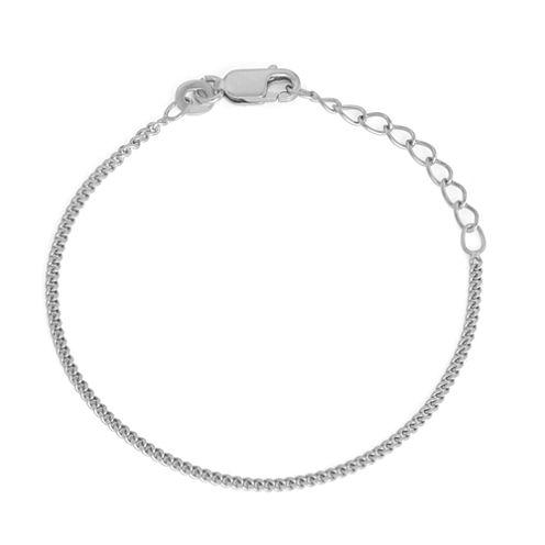Children's Sterling Silver 6  Inch Curb Chain Bracelet