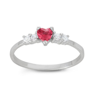 jcpenney.com | Girls Pink Cubic Zirconia Delicate Ring