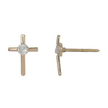 jcpenney.com | Round Cubic Zirconia 14K Gold Stud Earrings
