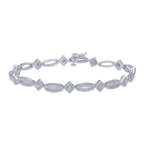 Womens 1/10 CT. T.W. White Diamond Link Bracelet