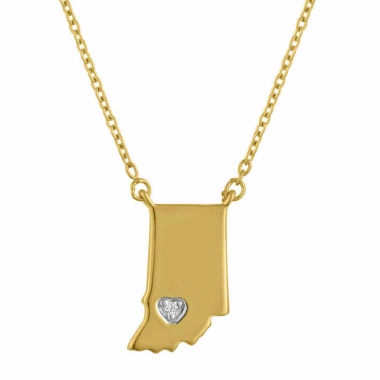 jcpenney.com | Diamond Accent 14K Yellow Gold over Silver Indiana Pendant Necklace