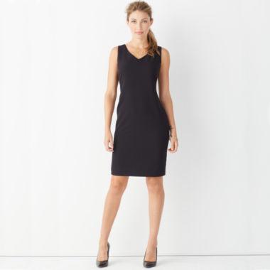Worthington® Sleeveless V-Neck Sheath Dress - JCPenney