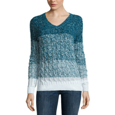 jcpenney.com | Liz Claiborne Long Sleeve Pullover Sweater