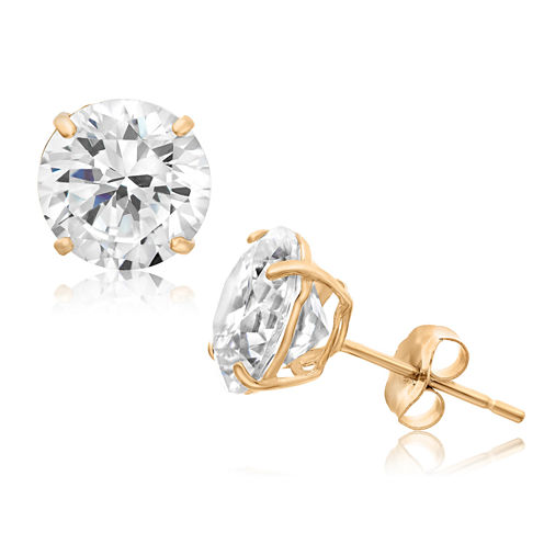 3 1/4 CT. T.W. Round White Cubic Zirconia 10K Gold Stud Earrings