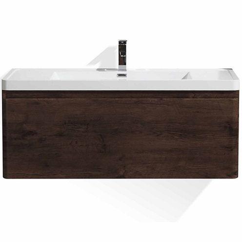 "Moreno Bath Happy 48"" Wall Mounted Modern BathroomVanity with 1 Drawer and Reinforced Acrylic Sink"""