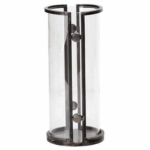 INK + IVY Warwick Handmade Iron and Glass Candleholder