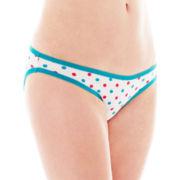 Flirtitude® 2-pk. Cotton Bikini Panties