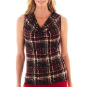 Black Label by Evan-Picone Sleeveless Cowlneck Blouse