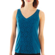 Worthington® Lace Tank Top - Tall