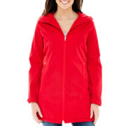 KC Collections Faux-Silk Balmacaan Hooded Coat
