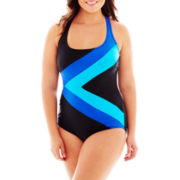 Delta Burke® Perfect Angle 1-Piece Mio Tank Swimsuit - Plus