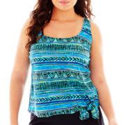 Azul by Maxine of Hollywood Jogger Tankini Swim Top - Plus