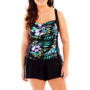 Delta Burke® Floral Tankini Swim Top or Skirted Bottoms - Plus