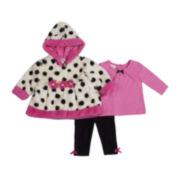 Little Lass 3-pc. Jacket, Shirt and Knit Leggings Set - Girls 2t-6