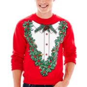 Holiday Flowers Fleece Sweatshirt