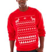 Ugly Sweater Graphic Fleece Sweatshirt