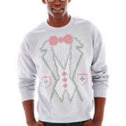 Tacky Yet Formal Fleece Sweatshirt