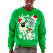 Christmas Kitty Fleece Sweatshirt