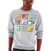 MTV Logo Stack Fleece Sweatshirt