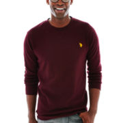 U.S. Polo Assn.® Long-Sleeve Solid Thermal Crewneck